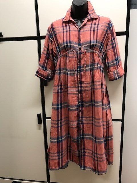 Kapital XS Doubleweave Cotton Sandalwood Indigo bluee Combo Ethnic Dress