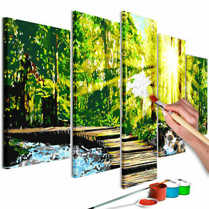Malset mit Holzrahmen 150x60 Leinwand Erwachsene Gemälde Kit DIY n-A-0657-d-m