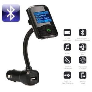 Bluetooth FM Transmitter Hands-free Car Kit Radio Receiver MP3 Audio Adapter