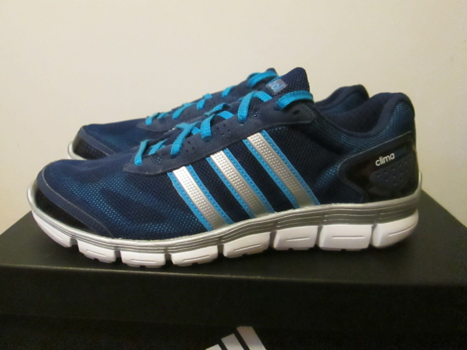 Adidas Clima Blue Cool Fresh Night Blue/White/Solar Blue Clima Lt Wt Running Shoes 8.5 NEW e9c8e3