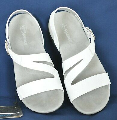 Spenco Roxbury Womens Comfort Sandal White Mist 8 Medium