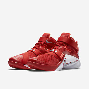 NEW Nike Lebron James Soldier IX TB Basketball Men Sneakers Red ... 3eeb2b6c0