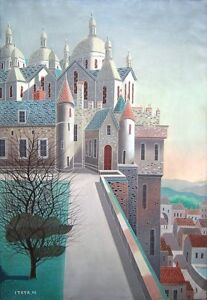FOUSSA-ITAYA-Signed-1958-Original-Oil-on-Canvas-Painting-LISTED