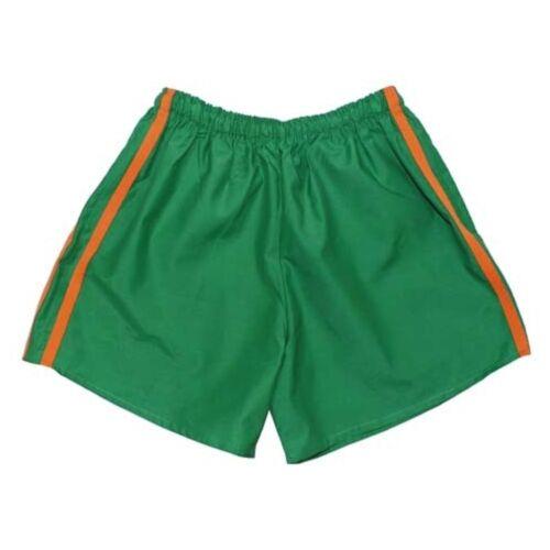 Bambini Pantaloni sportivi VERDE brevemente turn Pantaloni Pantaloncini S M L XL XXL COME NUOVO