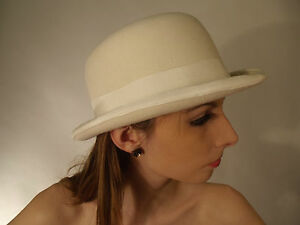 New Mens /& Ladies Traditional Bowler Hat London City English Horse Ivory White