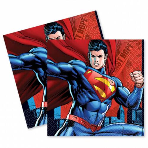 16 DC Comic Book SuperMan Superhero Child/'s Party 33cm Disposable Paper Napkins
