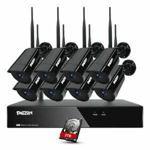 Camara-de-seguridad-tmezon-8CH-1080P-sistema-de-inalambrica-WiFi-de-exteriores-NVR-1TB-Lote