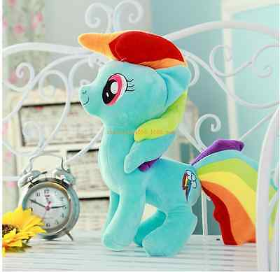 """New Cute 10"""" My Little Pony Horse Figures Stuffed Plush Soft Teddy Doll Toy Gift"""