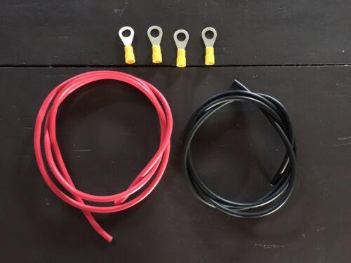 4 COSSES TROU Ø 4 MM LOT DE 2 CABLES   ELEC H05V//H07V ROUGE ET NOIR Ø 4 mm2