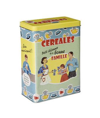 Nostalgiedose Vorratsdose Boîte pour cornflakesdose müslidose Boîte Rétro