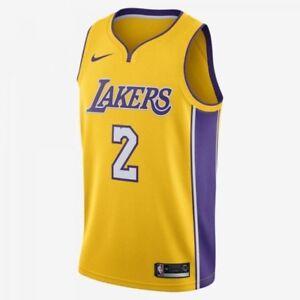 05e597e5e Nike Lonzo Ball Swingman Jersey  2 Gold Home NEW Mens Sizes S-L ...