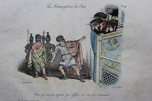 GRANDVILLE-Pour-qui-sont-ces-serpents-pl-46-Metamorphoses-RARE-1e-ed-1828-BULLA