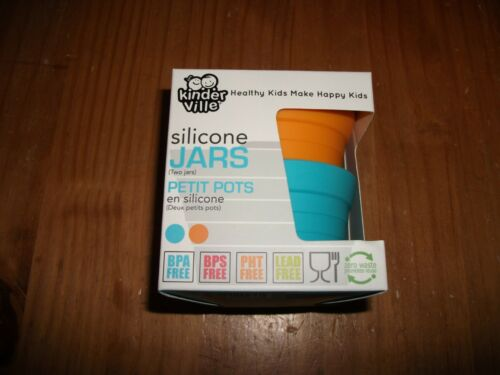 Kinderville Silicone Lidded Jars 100/% Silicone Jars for Kids 2 Pack Babies