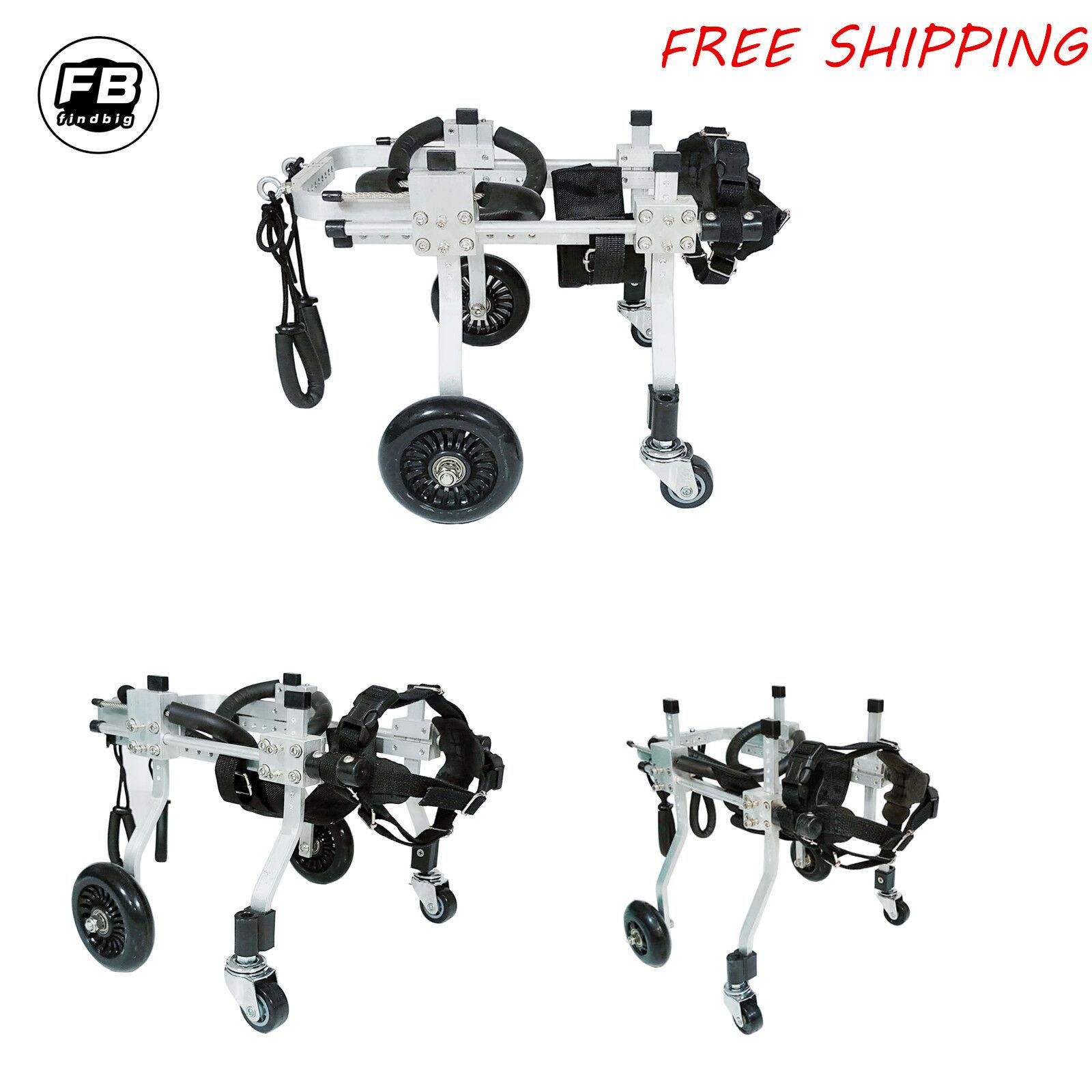 4 Wheels Cart Pet Dog Wheelchair To Make Handicapped Dog Doggie  Puppy Walk