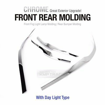 Front Rear Bumper Chrome Molding With Light Type for HYUNDAI New Tucson 2016-17