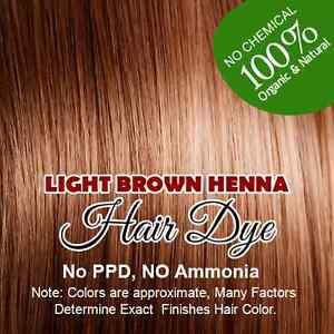 Light Brown Henna Hair Color – Goodness of Organic Henna 100 ...