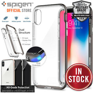 premium selection cc24f 53707 Details about iPhone X Case Genuine SPIGEN Neo Hybrid Crystal Hard Bumper  Cover for Apple