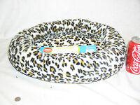 Brand Grreat Choice Leopard Soft Pet Dog Cat Bolster Bed 17x20 Inch W/tag