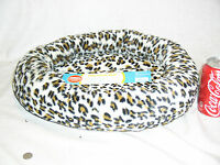 Brand Grreat Choice Leopard Soft Pet Dog Cat Bolster Bed 17x20 Inch W/tag