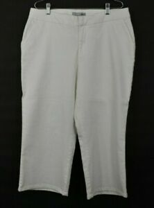 Chicos Platinum Womens White Stretch Wide Leg Flap Pocket Jean Pants Size 2.5