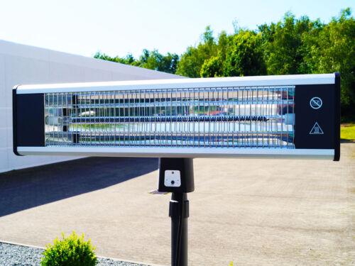 """189cm Traedgard® Freistehender Elektro Infrarot Heizstrahler /""""Keitum/"""" 1800W"""