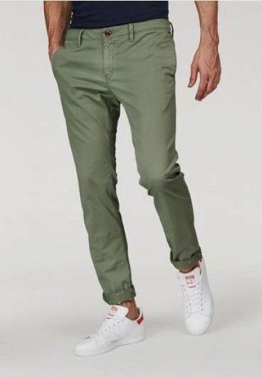 Tommy Hilfiger Jeans Chinos Slim Fit W33-W38 L34 Herren Hose Grün Stretch NEU