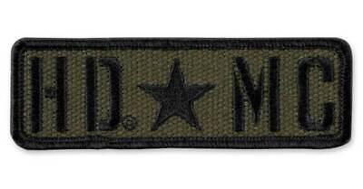 Harley-Davidson Embroidered Military Star Canvas Emblem Patch Olive EM343532