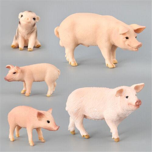 Simulation Animal Pig Model Toy Figurine Decor Plastic Animal Model Kids GiBICA