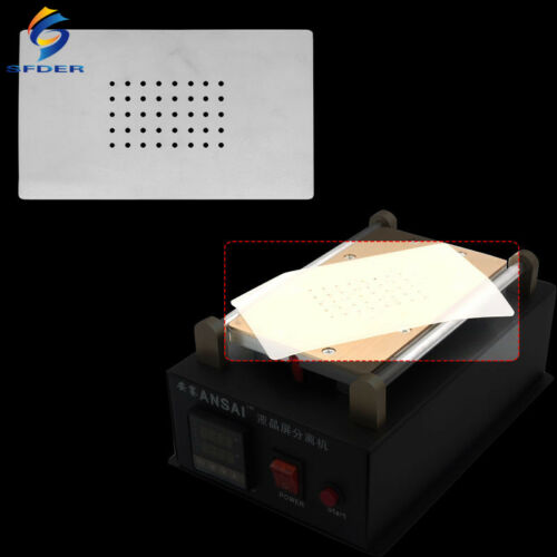 SFDER 7Inch Heat Insulation Silicone Pad For LCD Separator Machine With Holes