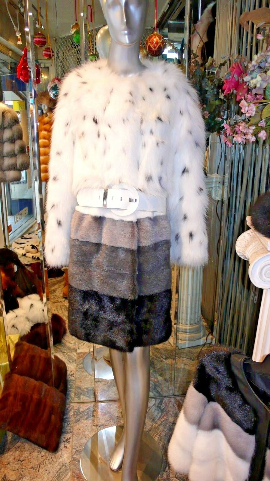 Very Unique and Stylish Mink and Fox Fur Coat Stunning Design  12000. ON SALE