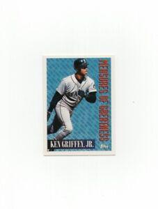 1994 Topps #606 Ken Griffey Jr Baseball Card Seattle Mariners HOF