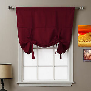 Image Is Loading SkylineWears Plain Tie Up Window Shades Blind Curtains