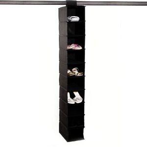 Image Is Loading 10 Shelf Hang Up On Rail Shoe Storage