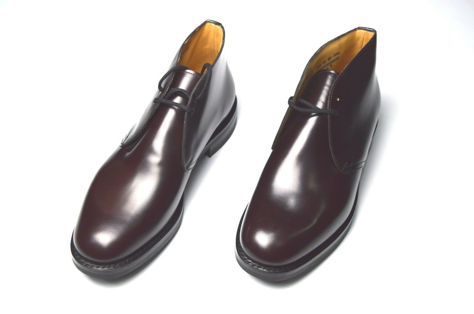 NEW CHURCH'S Dress Leather scarpe Ankle stivali  Dimensione Eu 42 Uk 8 Us 9 (H9)