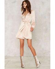 nasty gal Bardot Everlasting Love Mini Dress nude size 4 XSMALL new with tags