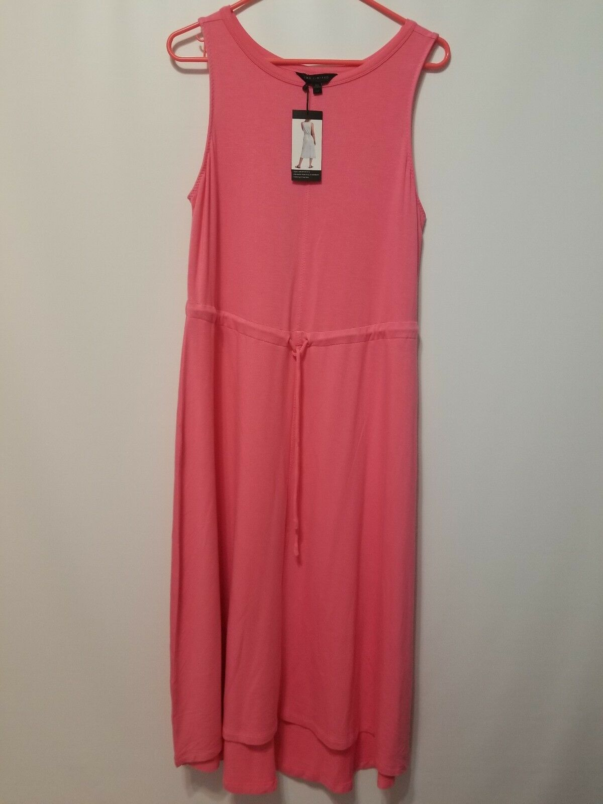 The Limited Peachy Pink Drawstring Waist Casual Dress Size L NWT