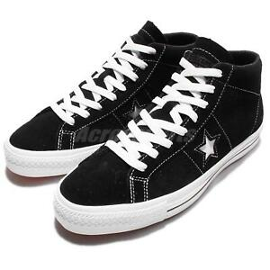 a7001a80d527 Converse CONS One Star Pro Suede Mid Black White Men Skateboarding ...