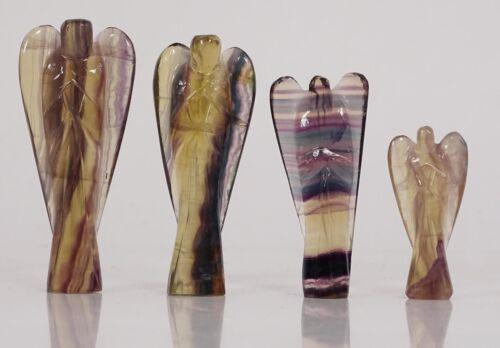 Hand geschnitzte Tasche Kristall Wächter Regenbogen Fluorit Engel Heilung Reiki