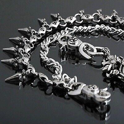 Guntwo Korean Mens Fashion Wallet Chains Biker Black Skull Jean Chain C0078 US