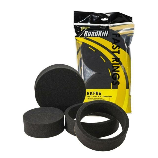 2X Black 6.5 Fast Foam Rings Car Door Speaker Enhancer System Kit Universal