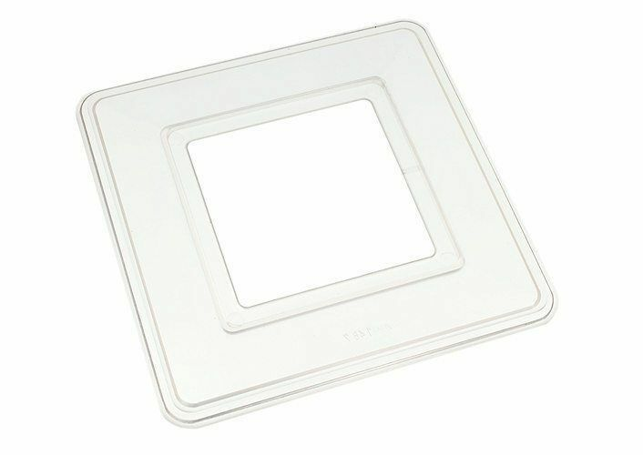 *Pks of 5 x Single Light Switch Surround Finger Back Plate Clear Plastic