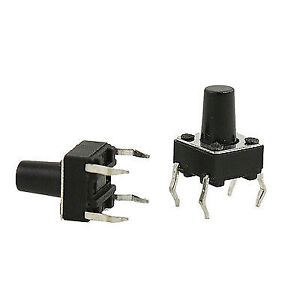 Electronic Components & Supplies 50pcs 8.5mm X 8.5mm Push Tactile Power Micro Switch Self Lock On/off Button