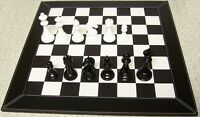 Chess Set With Leatherette Board And Wood Staunton Style Pieces 4 1/2 Kings