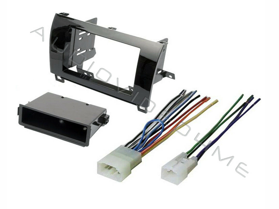 Details about Gloss Radio Stereo Install Double DIN Dash Mount Kit+Wire on