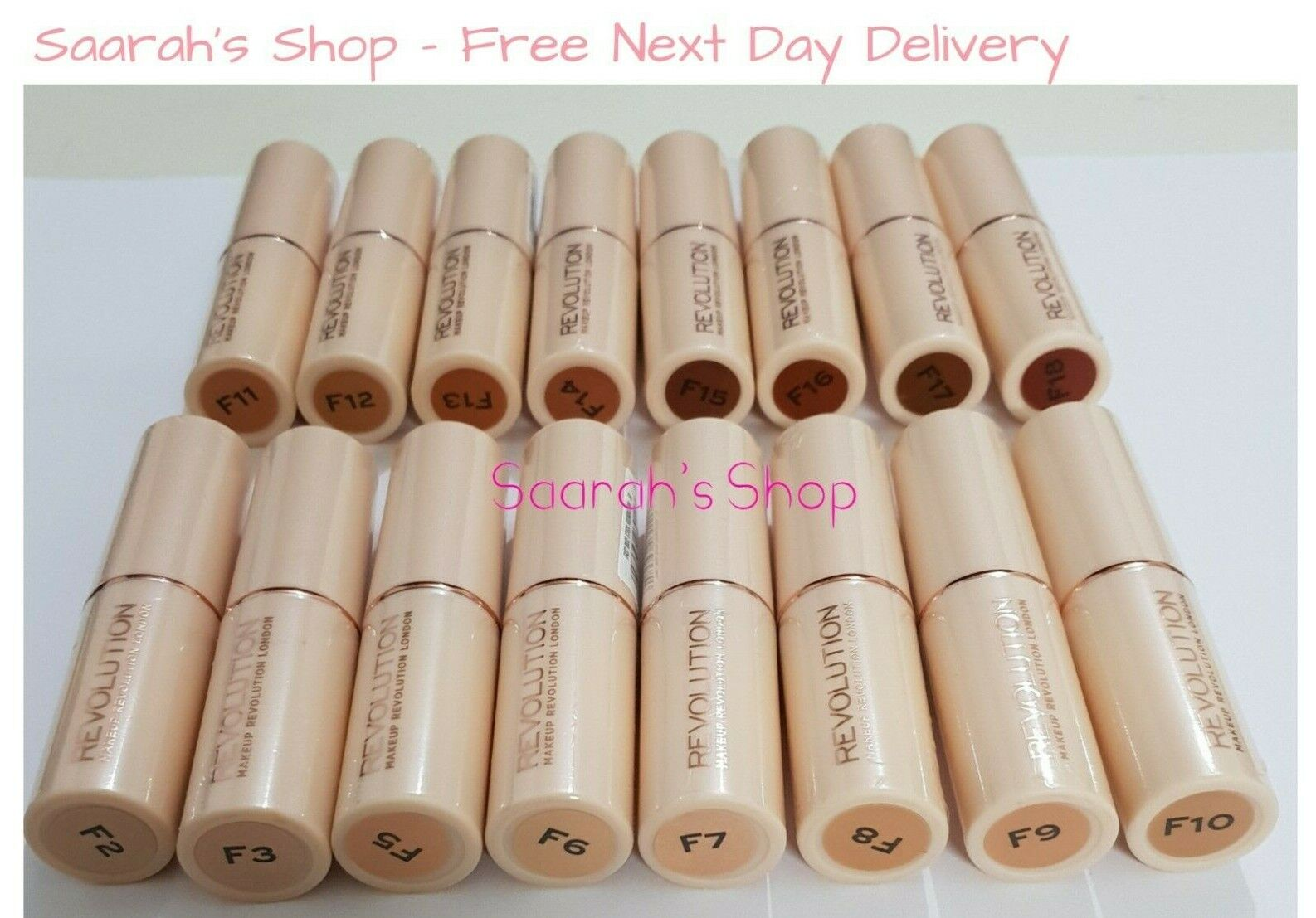Makeup Revolution Full Coverage Fast Base Foundation Stick 18 Shades Sealed Fast For Sale Online