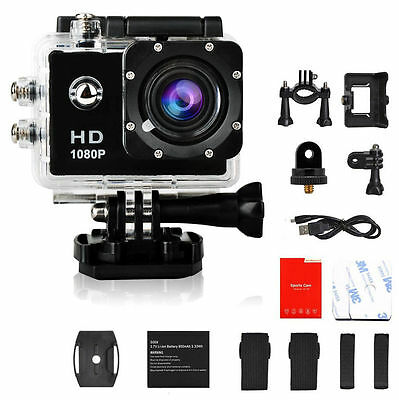 Black 1080P   SJ4000 Waterproof HD Helmet Sport Action Video Camera Cam DV