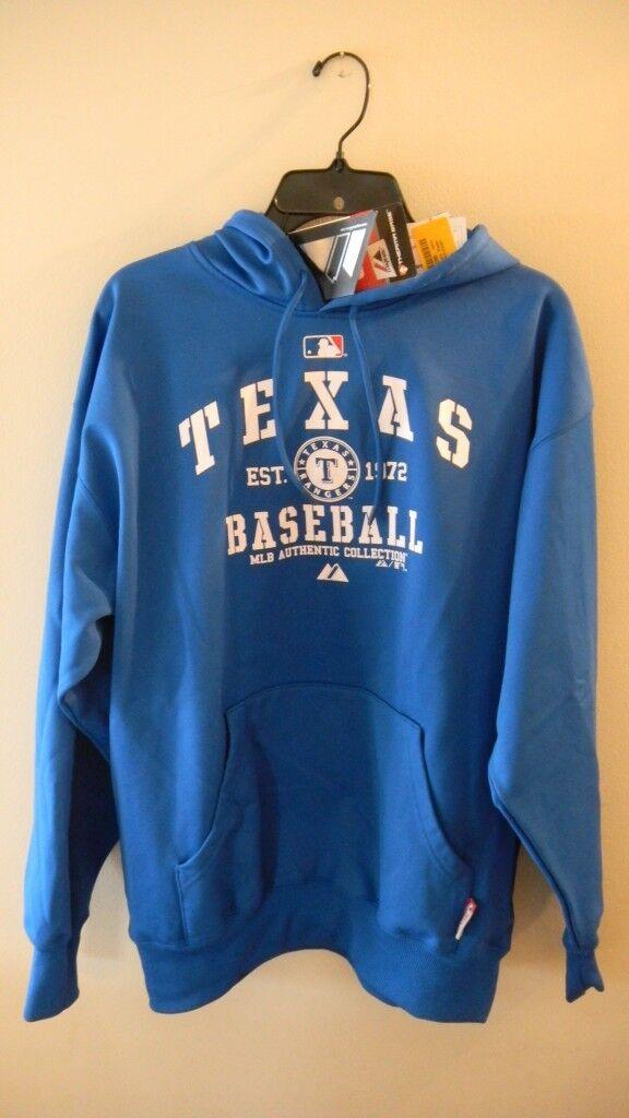 Texas Rangers  Classic  Hooded Fleece, bluee, Large