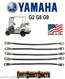 Yamaha G2-G9 36 Volt Golf Cart #2 Gauge Battery Cable Set ...