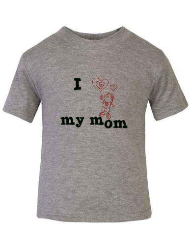 I Love My Mom Heart Shaped Balloon Toddler Baby Kid T-shirt Tee 6mo Thru 7t