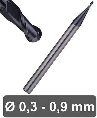 Vhm Micro Radiusfräser 2 Zähne - Altin Beschichtung Kugelkopffräser Fräser Hpc Erfrischend Und Wohltuend FüR Die Augen